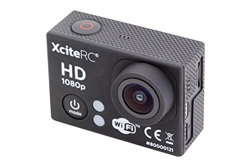 XciteRC 80000121 WiFi Action Full HD 12 MP Kamera, schwarz