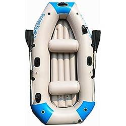Kayak Gonflable Bateau De Pêche Épais Et Résistant À l'usure Canoë De Voyage Rapide, 3 Personnes