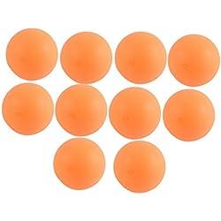 Plástico Deportivo Mesa Pelotas Tenis Ping Pong 40mm Dia 10 Piezas Naranja