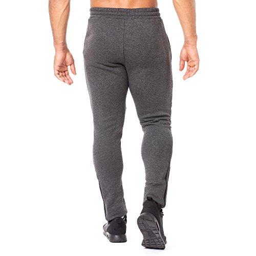 SMILODOX Slim Fit Herren Jogginghose 'Dynamic 2.0' | Trainingshose für Sport Fitness Gym & Freizeit | Sporthose - Jogger Pants - Sweatpants Hosen - Freizeithose Lang Anthrazit/Bordo