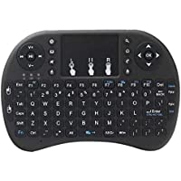 GUIGSI Retroiluminación 2.4GHz Mini Teclado inalámbrico Air Mouse Touchpad de Mano Teclados