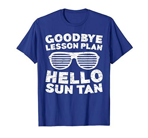 Goodbye Lesson Plan Hello Sun Tan T-Shirt Students Teachers T-Shirt - Anvil Baumwolle Womens V-neck Tee