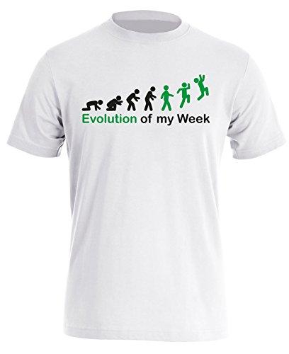 Evolution of my Week - Evolution meiner Woche - Herren Rundhals T-Shirt Weiss/Schwarz-gruen