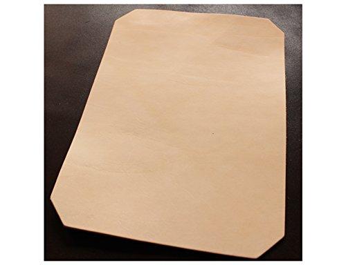 24x33 cm großer Leder Zuschnitt, Blankleder, Dickleder, Punzierleder - kräftige, pflanzlich / vegetabil gegerbte Rindleder, Vollrindleder mit ca. 3,2-3,5 mm Stärke und unverfälschtem Narbenbild, Leder Haut