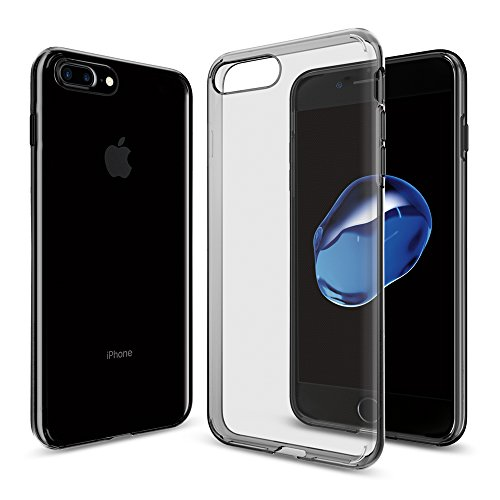 iPhone 8 PLUS / 7 PLUS Hülle, Spigen® [Liquid Crystal] iPhone 8 PLUS Hülle, Ultra Dünn [Matte Black] Matte Black Schlank Bumper-Style Handyhülle Premium Kratzfest TPU Schutzhülle für Apple iPhone 7 PL LC Space Crystal