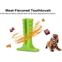 Wenquan,Cachorro de Silicona Cepillo de Dientes Chew Dientes Limpieza Suave Cepillado Stick Bite Toy Dog(Color:MONASTERIO)