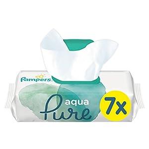 Pampers Aqua Pure Feuchttücher, mit 99% Purem Wasser, Dermatologisch Getestet, 7er Pack (7 x 48 Stück)