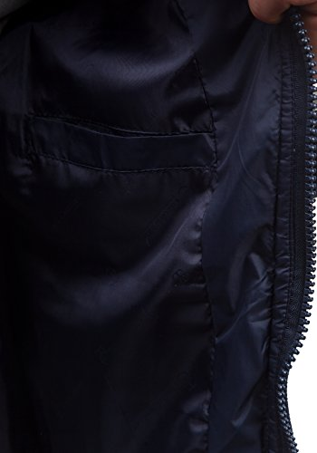 BOLF – Veste á capuche – Fermeture éclair – OHH 7615 – Homme Bleu foncé