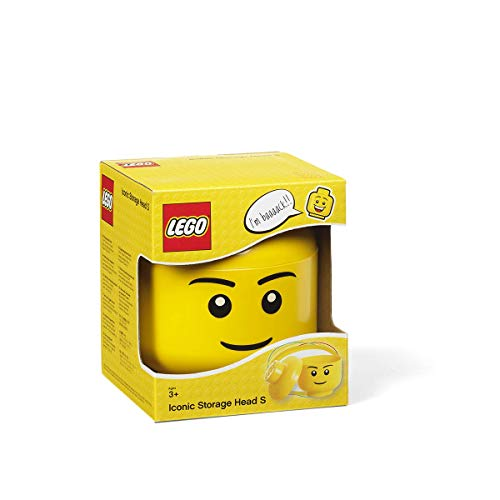 LEGO 4031 Tête de Rangement Empilable, Garçon, Jaune, S
