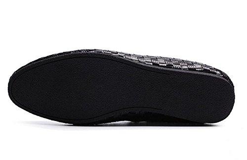 Scarpe Uomo Slip-On Oxford Scarpe Uomo Casual Scarpe Uomo Pure - Scarpe Uomo Tesse Scarpe Respirabili Estate Scarpe Piatte Di Piedi Black