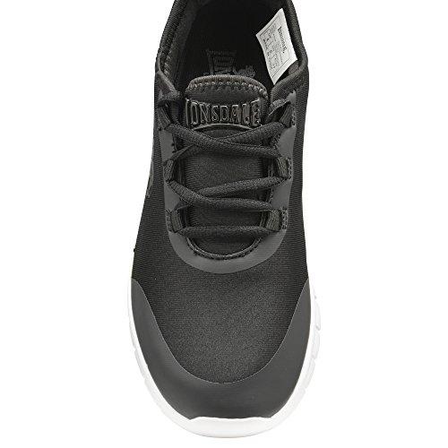 Zapatos negros con cordones Lonsdale para mujer rQ5cV