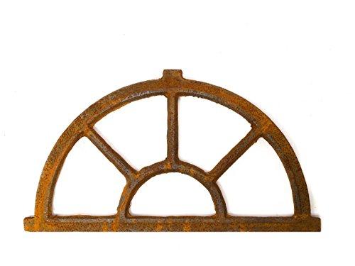 Rost-rahmen (Nostalgie Stallfenster Bogen Fenster 35x64cm Eisen Gusseisen antik Stil Rost)