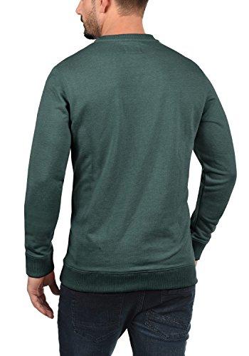 BLEND Santa Herren Weihnachtspullover Sweatshirt mit Print und Rundhals-Ausschnitt aus hochwertiger Baumwollmischung Pine Green/ Bells (77212)