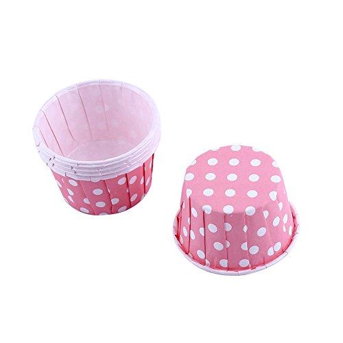 Mini Papier Kuchen Cupcake Wrappers Fällen Halter für Muffin Cups Liner Cupcake Papier Backen Farbe für Halloween Hochzeit Geburtstag Party Dekoration Allerheiligen(pink) (Halloween Cupcake-wrapper)