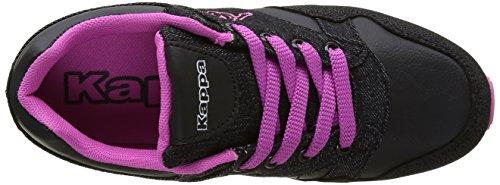 Kappa Claw, Baskets Basses Fille Noir (939 Black/Pink)
