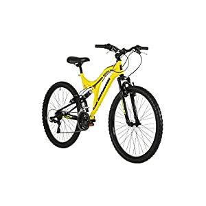 41Ow31l6I6L. SS300  - Barracuda Unisex Draco Ds Wheel 18 Inch Full Suspension Frame Mountain Bike, Yellow, 26