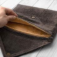 étui/housse/sleeve/pochette pour tablette iPad Pro Air 10.2 9.7 10,5 11 12.9 Mini tissu velours brun