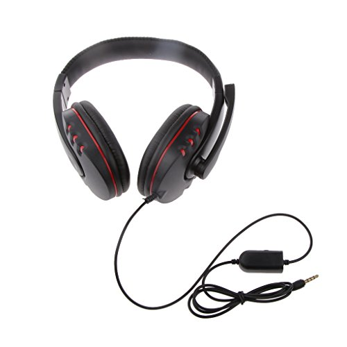 Phenovo 3.5mm Jack Wired Gaming Headset Headphone with MIC for Sony PS4 XBOX ONE PC MP4