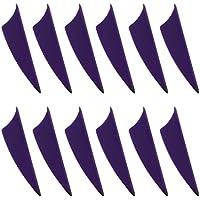 Baoblaze 13 Piezas Plumas de Flecha ala Derecha Partes de Reempalzo de Entrenamiento Archero Recurvo - Violeta, 12 Piezas