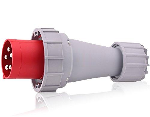 CEE-Starkstrom-Stecker Intratec 63A 400V 6h IP67 (spritzwassergeschützt) 5-polig (3P+N+E): IEC-60309 Industrie- und Mehrphasenstecker robuste Industriequalität ideal für den schwerindustriellen Einsatz