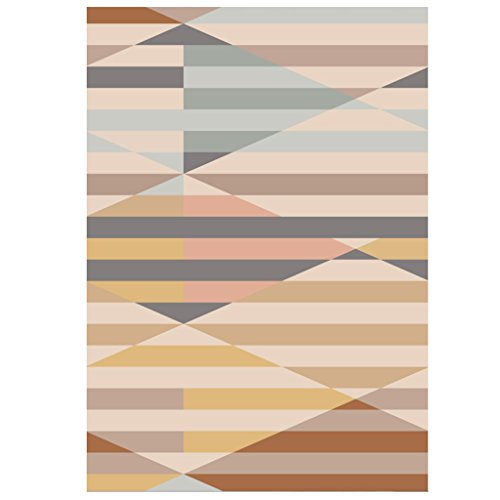 Meng Wei Shop Alfombras Alfombra alfombras de Mesa de salón alfombras de Noche del Dormitorio Alfombrillas de Suelo geométricas rectangulares Personalizadas (Size : 140 * 200cm)