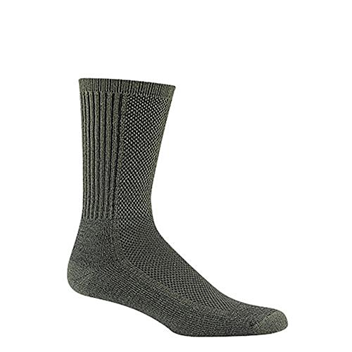 Wigwam Mens Cool-Lite Hiker Pro Crew Midweight Cushion Socks (Moss Green Medium) by Wigwam (Sock Coolmax Crew Hiking)