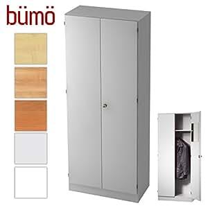 b m office garderobenschrank abschlie bar aus holz kleiderschrank flurschrank. Black Bedroom Furniture Sets. Home Design Ideas