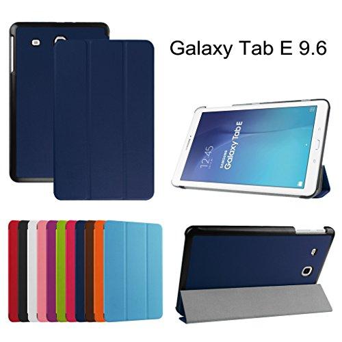 Galleria fotografica Samsung Galaxy Tab E 9.6 Ultra Custodia,Mama Mouth Ultra sottile di peso leggero con supporto in Piedi caso Case per 9.6 Samsung Galaxy Tab E 9.6 T560 T561 Android Tablet,blu scuro