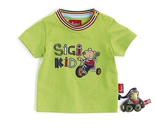 Sigikid Baby - Jungen T-Shirt Kollektion Tom Tausendfuß, Gr. 92, Grün (greenery 329)