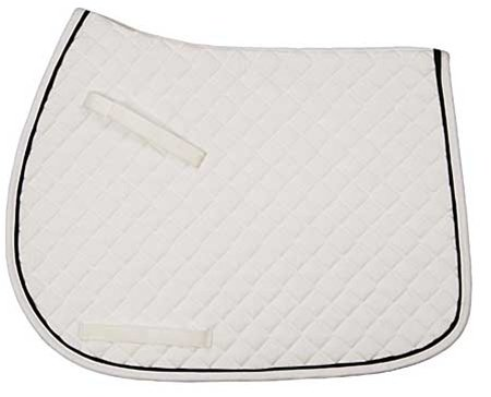 tuffrider Tuff Rider All Purpose Pad w/Trim Schwarz/Tan/creme Creme Trim