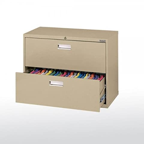 Sandusky Lee LF6A362-04 600 Series 2 Drawer Lateral File Cabinet, 19.25