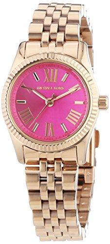 Michael Kors  - Reloj Analógico de Cuarzo para Mujer, correa de Acero inoxidable color Oro rosa