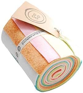 Button Company The 6 x 10 x 45 cm couture Rouleau de feutrine Couleurs Pastel, couleurs Pastel