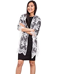 Abbino Brigitte Mäntel Spitzen-mäntel Damen Frauen - Made in Italy - 2  Farben - Damenmäntel Jacken Coat Herbst Winter Muster Farbig… ec7f80e0fc