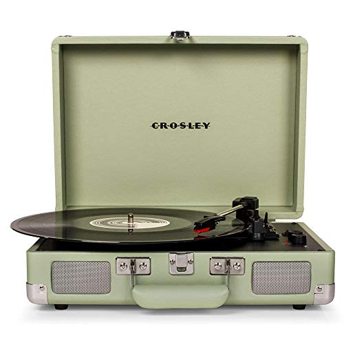 Crosley Cruiser Deluxe Tragbarer Bluetooth Plattenspieler im Retro Design, Mint