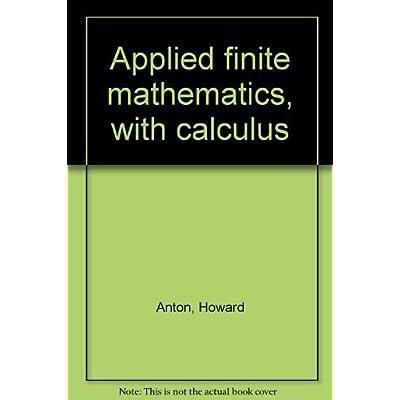 Applied Finite Mathematics With Calculus Pdf Complete Hueywyatt