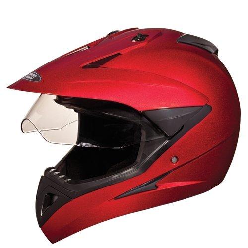 Studds Motocross Helmet with Visor (Cherry Red, XL)