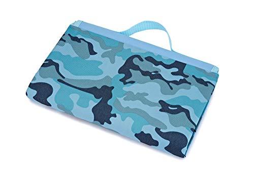 Picknickdecke,Camouflage Blau Tragbare Wasserdichten Falten Cartoon Drucken Picknick Mat Outdoor Beach Feuchtigkeits- Decke, Isomatte Wandern Beachpad, 200 X 145 cm