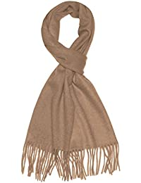 """Lorenzo Cana Caschmere Men's Scarf Shawl 100% Cashmere 12"""" x 75"""" 30 cm x 180 cm Brown Made in Germany"""