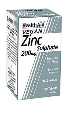 HealthAid Zinc Sulphate 200mg - 90 Tablets by HealthAid