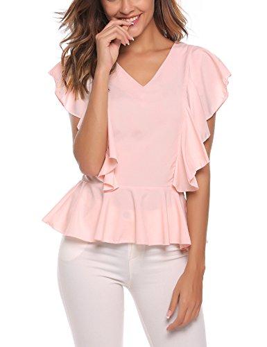 Finejo Damen Schulterfrei Blumen Druck Langarmshirt T-Shirt Sommer Baumwolle Basic Shirts Bluse Hemd Oberteil Tunika Strand Party Tops (Blazer Strand)
