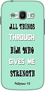 Snoogg Him Who Gives Me Strength Quote Solid Snap On - Back Cover All Around ...