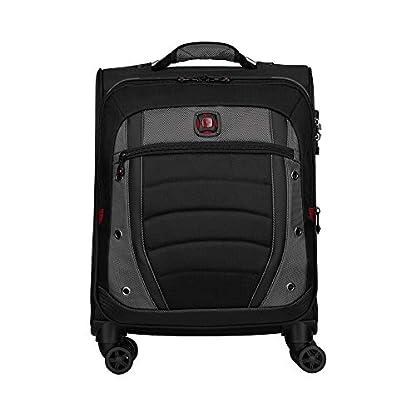Wenger Synergy 20″ Expandable Softside Luggage Carry-On – Gris/Negro Maleta, 54 cm, 48.4 Liters