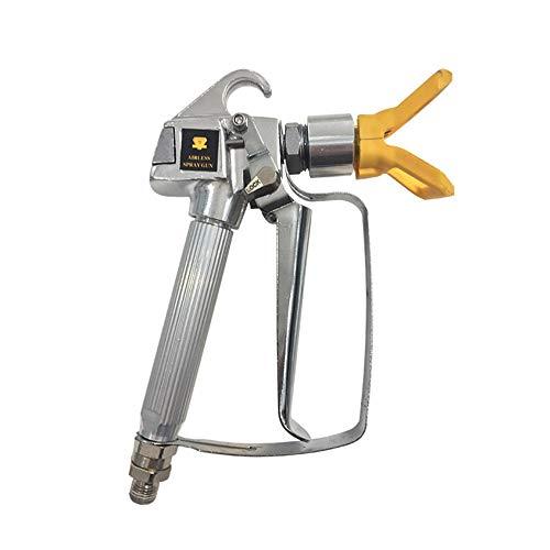 gfjfghfjfh 3600PSI Hochdruck-Airless-Spritzpistole Airbrush + 517 Spritzdüse + Düsenschutz für Wagner Titan Pump Pritzmaschine -