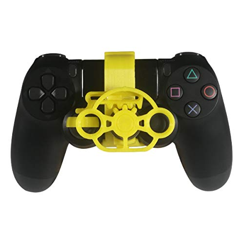 PS4 Gaming Rennrad, 3D-bedrucktes Mini-Lenkrad für Playstation 4 Controller gelb