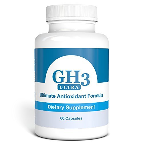 GEROVITAL GH3+, Enhanced GH3 Antioxidant Complex (with PABA, DMAE, Ginkgo Biloba, R-Alpha Lipoic Acid, Coenzyme Q10, Acetyl L-Carnitine, Vitamin B6, Vitamin C, Niacin, Folic Acid, Biotin, Potassium, Magnesium) 60 Capsules -