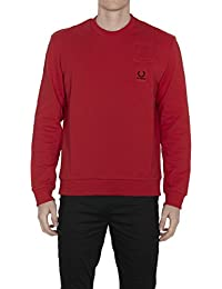 Fred Perry Homme SM141321956 Rouge Coton Sweatshirt