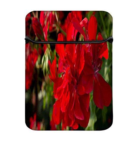 Snoogg rot floral 43,2cm einfachen Zugang Gepolstertes Laptop Schutzhülle Flip Sleeve Tasche