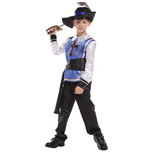Kind Ninja Krieger Kostüm Prinzessin - LOLANTA Roman Royal Warrior Kostüm für Jungen Kreuzfahrer Kostüme für Kinder Halloween Rittersoldat Kostüm (5-6 Jahre)