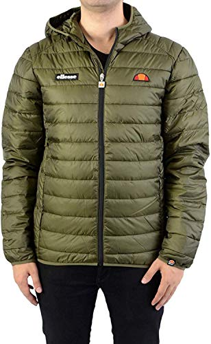 ellesse Herren Lombardy Padded Jacket Mantel, Kaki, S
